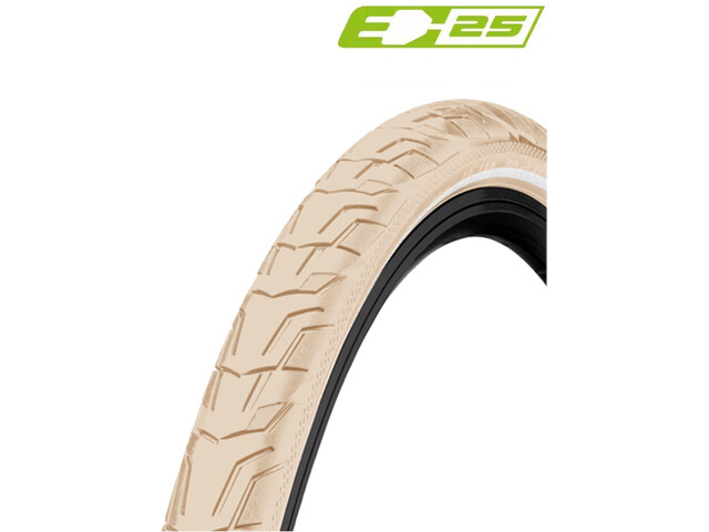 "Continental Ride City Clincher Tyre 26x1.75"" E-25 Reflex, beige"